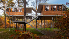 cabane futuriste en belgique par baumraum