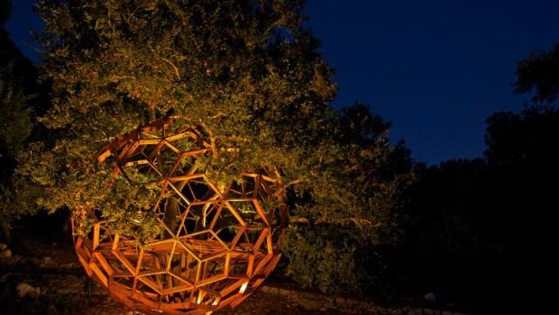 cabane honeysphere de nuit californie