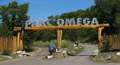 entrée du Parc Oméga au Canada