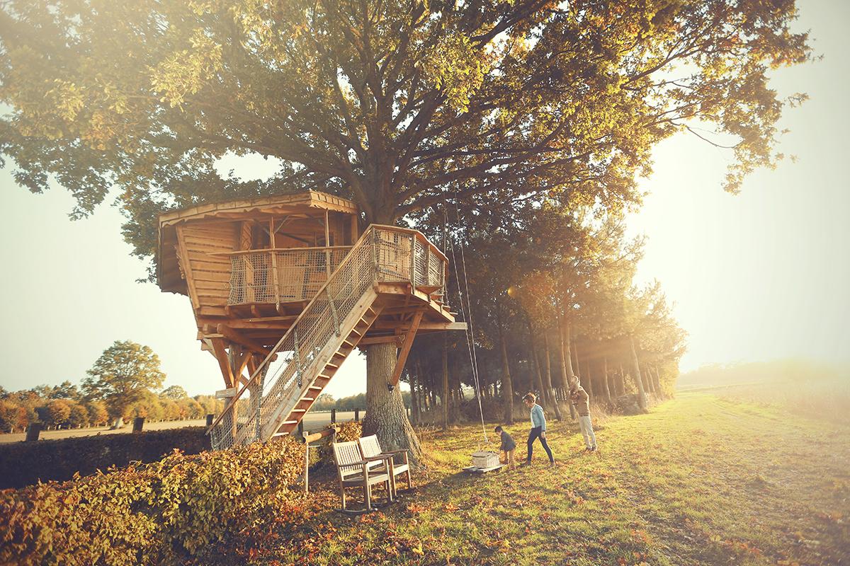 Séjour en famille dans une cabane